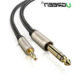 """Ugreen 6.35mm 1/4"""" Male to 3.5mm 1/8"""" TRS Stereo Audio Cable"""