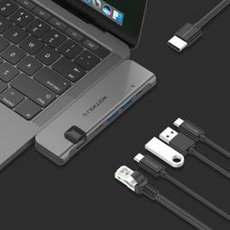 LENTION 6-in-1 USB-C HUB to HDMI Ethernet USB 3.0 Adapter fo