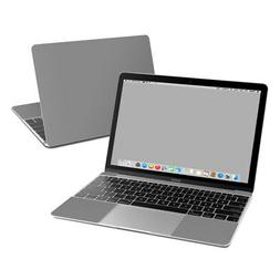 Apple MacBook 12in Skin - Solid Grey - Sticker Decal