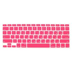 uxcell Korean Keyboard Skin Cover Pink for Apple MacBook Air