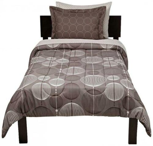 AmazonBasics Bed-In-A-Bag Comforter Twin/Twin XL, Industrial Grey