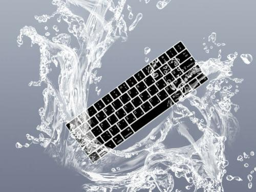 "Hebrew Silicone Keyboard Cover Skin For MacBook 13""15"" Bar A2159"