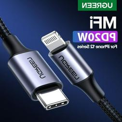 Ugreen MFi USB C to Lightning Cable PD Fast Charging Cable f