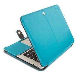 Mosiso PU Leather Book Folio Stand Case for MacBook Air 13 I