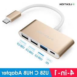 USB-C 3.1 to USB 3.0 HUB Adapter PD Charger for 2016-2019 Ma