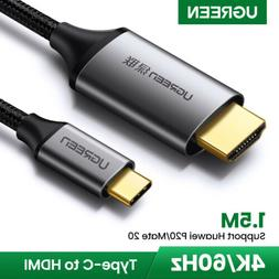 Ugreen USB Type C Thunderbolt 3 to HDMI Cable Adapter 4K 60H